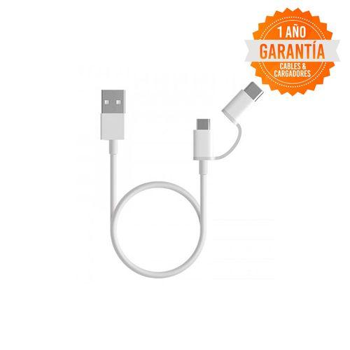 Cable Xiaomi MI 2 IN 1 Micro Usb/Type-C, 1mt.
