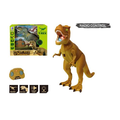 Tiranosaurio Rex a Control Remoto, Dinosaurio con Efectos de Luz y Sonidos, Camina Hacia Adelante, Mueve la Cabeza y la Boca