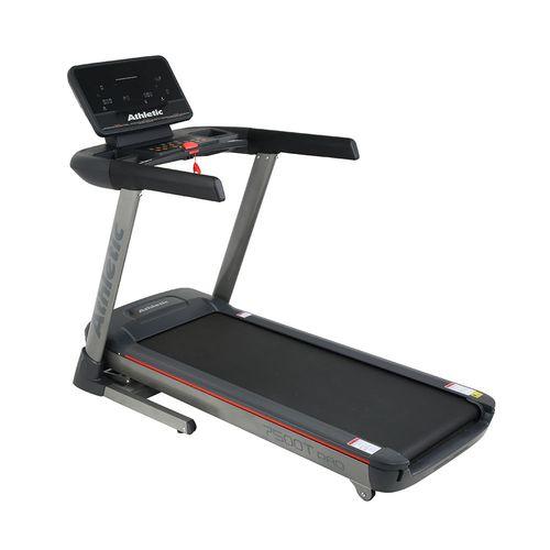 Trotadora Athletic 7500T, motor 4HP, vel máx: 22 km/h, 15 niveles de inclinación, velocidad, tiempo, distancia, calorías, pulso, peso máximo 150 kg