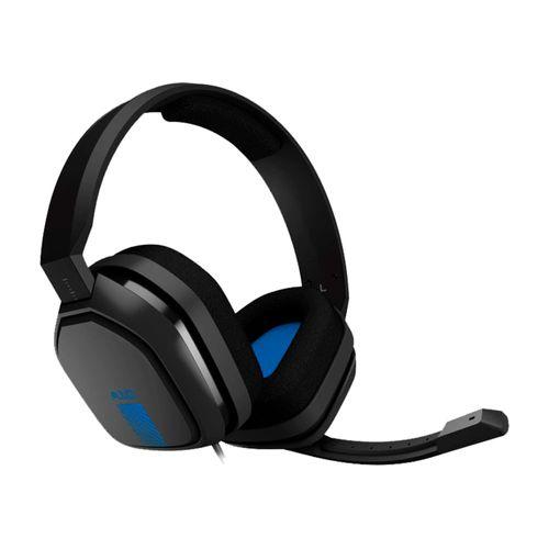 Audífonos Gaming A10 Color Gris/Azul con Conector 3.5 mm y Compatibles con PC, MAC, PS4 y Xbox