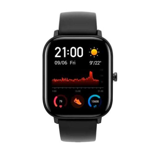 Smartwatch Amazfit GTS, pantalla amoled de 341 ppi, cuerpo de metal,duración de la batería de 14 días, resistencia al agua de 5 atm, color negro