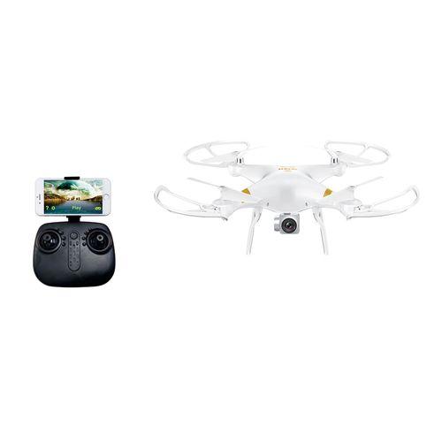 Drone NOVEL-TY 2.4G, WIFI, Cámara de 720P, Función Altitud Hold, Giros 360°, Batería Recargable de Litio 650mAh, Tamaño 34cm