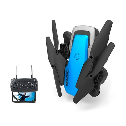 Drone MAGIC 2.4G, WIFI, Plegable, Cámara de 0.3MP, Función Altitud Hold, Giros 360°, Batería Recargable de 850mAh, Tamaño 29cm
