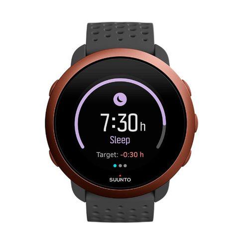 SmartwatchSunnto 3,GPS con sensor de frecuencia cardíaca,más de 80 modos de deporte, registro de actividad 24/7,hasta 10 días de bateria, gris cobre