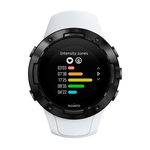 Smartwatch Suunto 5, ideal para entrenamientos,sumergible 50 metros,hasta 14 días de duración bateria,más de 80 modos de deporte, color negro blanco