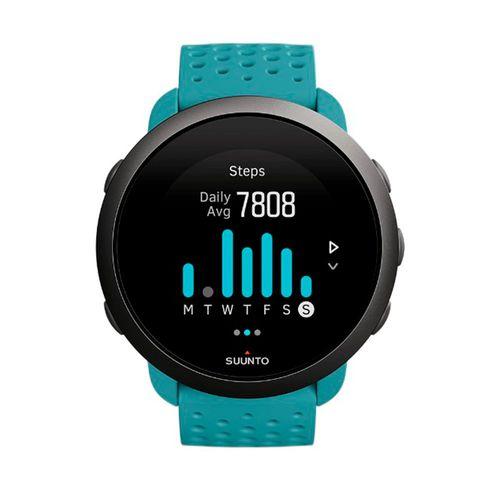 SmartwatchSunnto 3,GPS con sensor de frecuencia cardíaca,más de 80 modos de deporte, registro de actividad diaria, hasta 10 días de bateria, moss grey