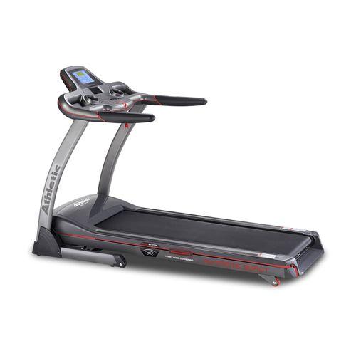 Trotadora Athletic 3660T, motor 2.5HP, vel máx 20km/h, 15 niveles inclinación, velocidad, pulso, tiempo, calorías, body fat, distancia, peso máx 140kg