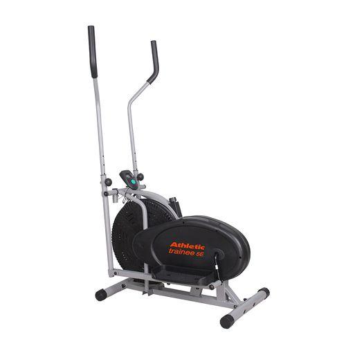 Eliptica Athletic 5E, monitor de pulso, velocidad, tiempo,distancia, calorías, peso máx 100kg, rueda Fan Wheel, correa con control de tensión continua