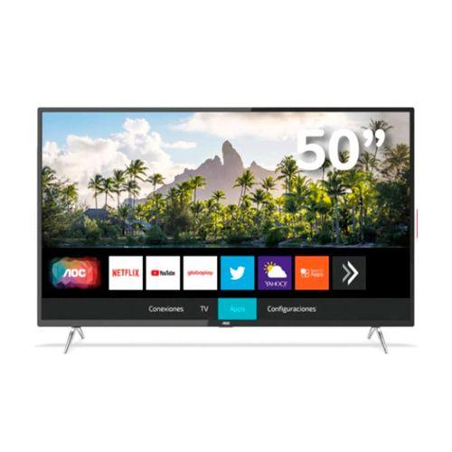 """Televisor AOC Led UHD Smart, pantalla plana de 50"""""""