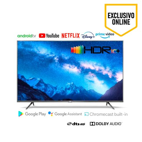 "TELEVISOR LED MI 4S 65"",Direct LED UHD 4K,ProcesadorMTK Cortex A53 Quad Core z 1,5GHz,RAM 2GB/16GB ROM,Sistema Operativo Android TV 9.0,Brillo 330nits"