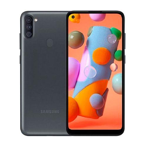 """Galaxy A11 Negro, Dual Sim, 3 Cámaras, Cámara Pincipal de 13MP, 32GB de Memoria y 2GB de RAM, Batería de 4,000 mAh, Pantalla 6.4"""""""