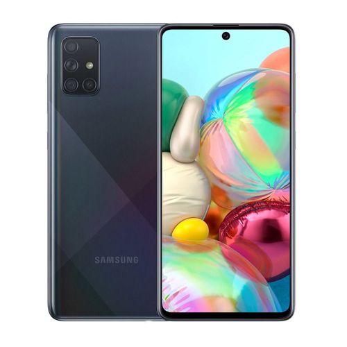 """Galaxy A71, 4 Cámaras traseras, Cámara principal de 64MP, 128GB de Memoria y 6GB de RAM, Batería de 4,500 mAh con carga rápida, Pantalla 6.7"""" Dual Sim"""