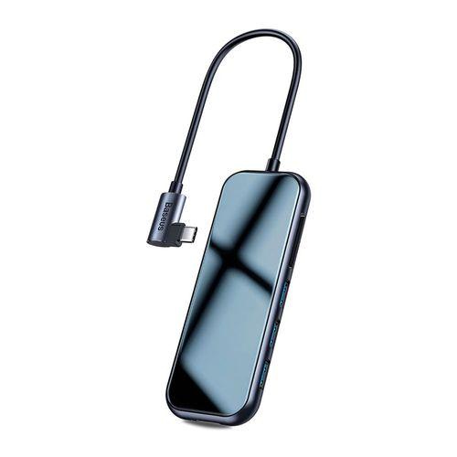 Hub 7 en 1 Tipo C a 3 Puertos USB 3.0 + 4K/HDMI + SD/MicroSD + Puerto de Carga PD