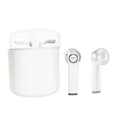 Audífonos Bluetooth In ear True Wireless True Evo con estuche de carga, resistentes al sudor y agua IPX6, Blanco
