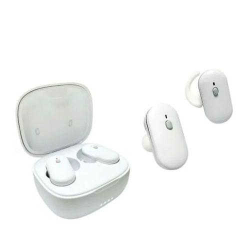 Audífonos Bluetooth True Wireless Q10 con case de carga, almohadillas de aleta para mejor sujeción, color blanco