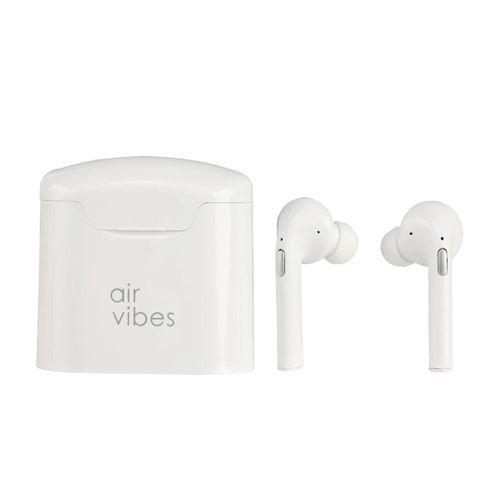 Audífonos Bluetooth In ear True Wireless con estuche de carga, almohadillas de silicona, blanco