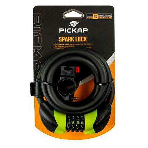 Cable de seguridad Pickap Spark Lock 12 mm, combinación de 4 dígitos, soporte para transporte