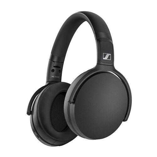 Audífono Bluetooth On ear SENNHEISER HD350BT, micrófono incorporado, 30 horas de batería, carga rápida, asistente de voz Siri y Google, color Negro