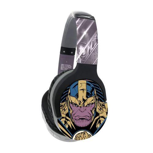 Audífono Bluetooth On ear diseño colección Thanos de Marvel 12 h de batería, conexión auxiliar