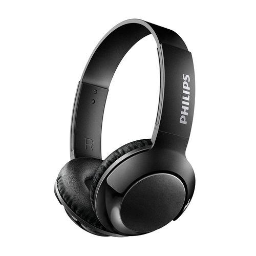 Audífono Bluetooth On Ear BASS+ con micrófono incorporado, diseño plegable, gran aislamiento de ruido externo, controles integrados, Negro