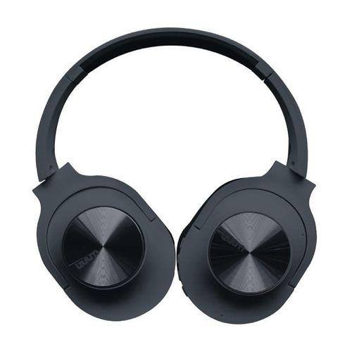 Audífono Bluetooth On ear función FM, conexión Aux-in, micrófono incorporado para llamadas, negro