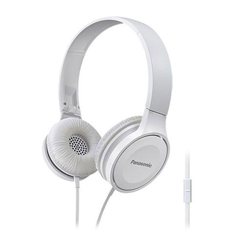 Audífono on ear con micrófono Panasonic HF100ME comandos de voz, conector 3.5 mm, blanco
