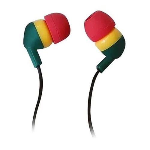 Audífono In ear diseño rasta sin micrófono, almohadillas de silicona, Rasta