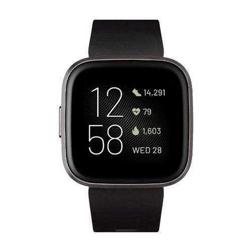 """Smartwatch Fitbit Versa 2, pantalla amoled de 1.4"""", resistente al agua, medicion de valores corporales,negro"""