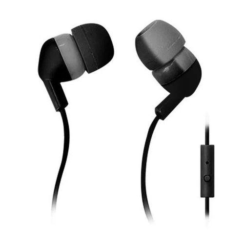 Audífono in ear con micrófono Black Sheep almohadillas de silicona, conector 3.5 mm, negro