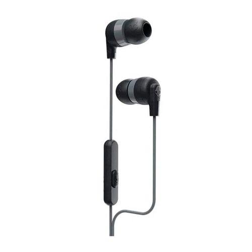 Audífono In ear INKD+ con micrófono para llamadas, ajuste de aislamiento de ruido, control de música y llamadas, color Negro con Gris