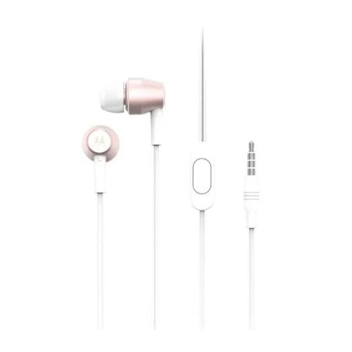Audífono In ear con micrófono Pace 200, cable plug 3.5mm, color rose gold