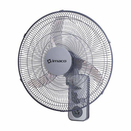 """Ventilador para pared, diámetro de 18"""", 3 aspas, control de oscilación 90°, 3 velocidades, 2 cuerdas de funcionamiento, 60w"""