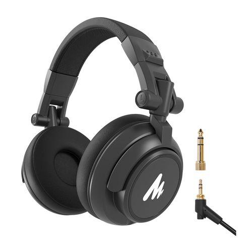 Audífono Over Ear de estudio monitor HIFI, drivers de 50mm, almohadillas confortables, conexión plug 2 en 1