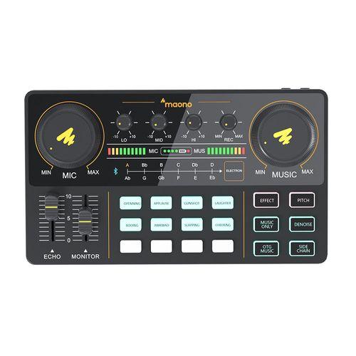 Consola portátil mezcladora de audio profesional para producción de podcast