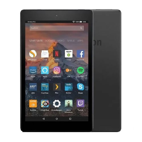 "Tablet Amazon Fire HD 8"", 32gb, ram 2g, procesaro 2ghz cuatro nucleos, camaras 2mp, negro"