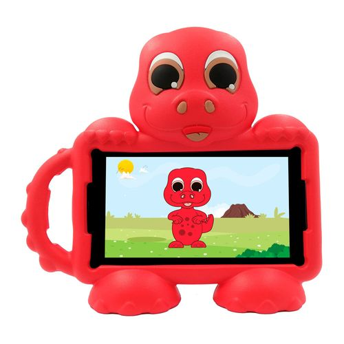 "Tablet Advance Kids Dino, tamaño de 7"", memoria ROM 16gb, RAM 1gb, cámara posterior 2mp, 3g , incluye cover dino Rojo"