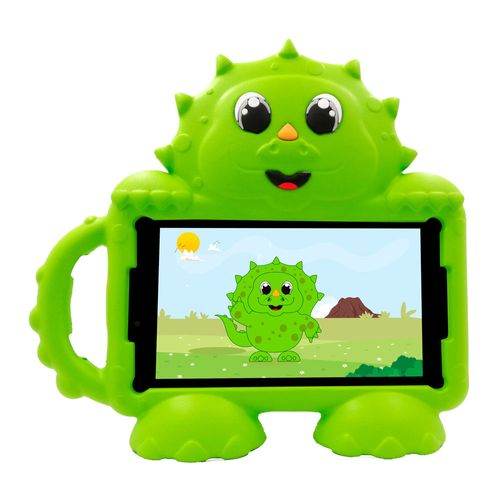 "Tablet Advance Kids Dino, tamaño de 7"", memoria ROM 16gb, RAM 1gb, cámara posterior 2mp, 3g , incluye cover dino Verde"