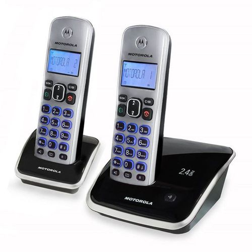 Teléfono Inalámbrico con Identificador de Llamadas y Anexo, Color Plateado