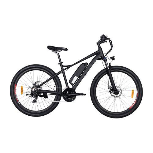 """Bicicleta eléctrica Discovery color negro, autonomía 25-30km, vel máx 20km/h, llantas 27.5"""", display LCD, 21 velocidades Shimano, suspensión delantera"""