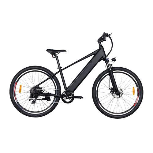 """Bicicleta eléctrica Ranger color negro, autonomía 25-30km, vel máx 20km/h, llantas 27.5"""", display LCD, 7 velocidades Shimano, suspensión delantera"""