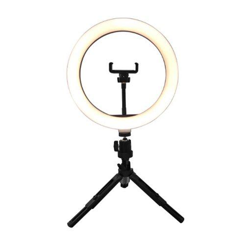 """Aro de luz 10"""" (26 cm), trípode 19 cm y control bluetooth"""
