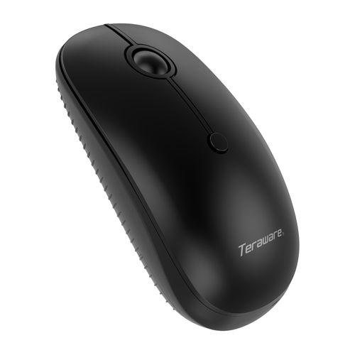 Mouse Inalámbrico Recargable Color Negro, Conexión USB, 4 Botones, Selector DPI 800/1200/1600
