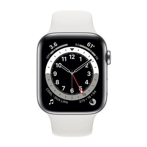 Smartwatch Apple Watch Series 6 Con Gps, pantalla retina 44Mm, llamadas manos libres, wifi y bluetooth - blanco silver