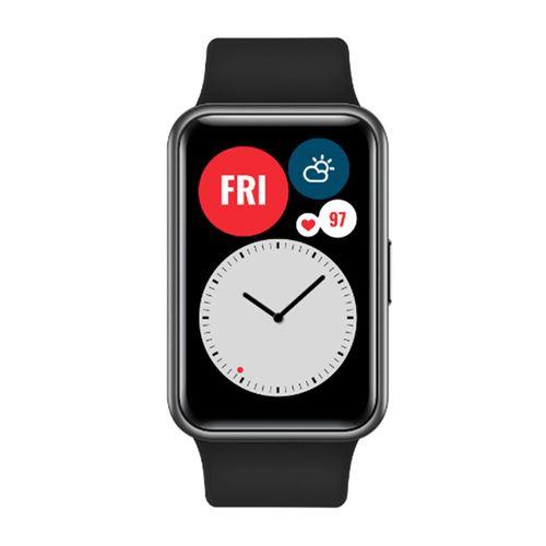 """Smartwatch Huawei Watch Fit, pantalla de 1.64"""" amoled, 96 modos de entenamiento, GPS, SP02, negro"""