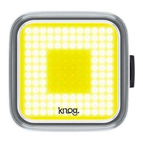 Luz delantera Blinder Cuadrado, carcasa negra, luz blanca, 200 lúmenes, 4x4cm, 8 modos de luz, carga USB, hasta 60 horas de duración en eco flash