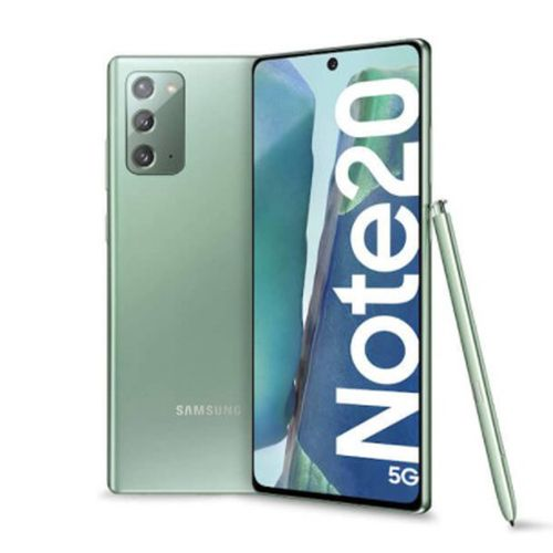 """Galaxy Note 20, cámaras 64+12+12MP, frontal de 10MP, almacenamiento 256GB, RAM 8GB, pantalla 6.7"""" Super AMOLED Plus, Dual Sim - verde"""