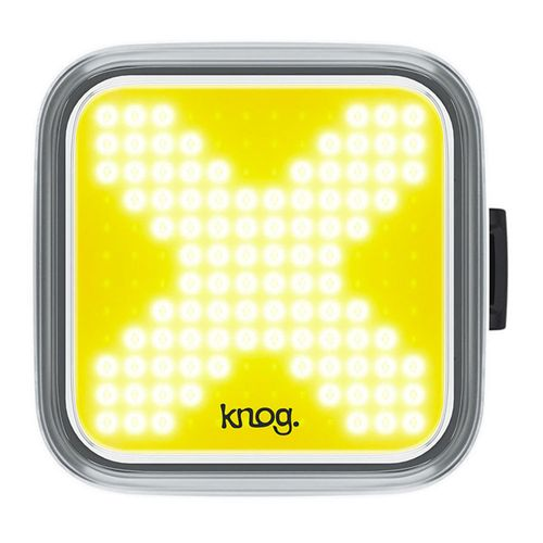 Luz Delantera Blinder X, carcasa negra, luz blanca, 200 lúmenes, 4x4 cm, 8 modos de luz, carga vía USB, hasta 60 horas de duración en eco flash