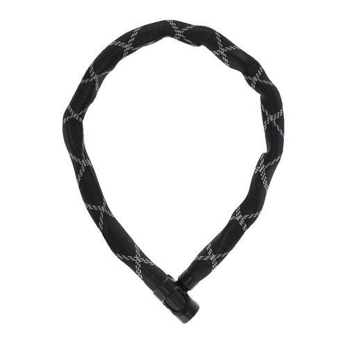 Cadena 6210/110 cuadrada de 6mm, negro, funda de malla tejida de alta tecnología, resistente, longitud 110cm, peso 950 gr, bloqueo con llave