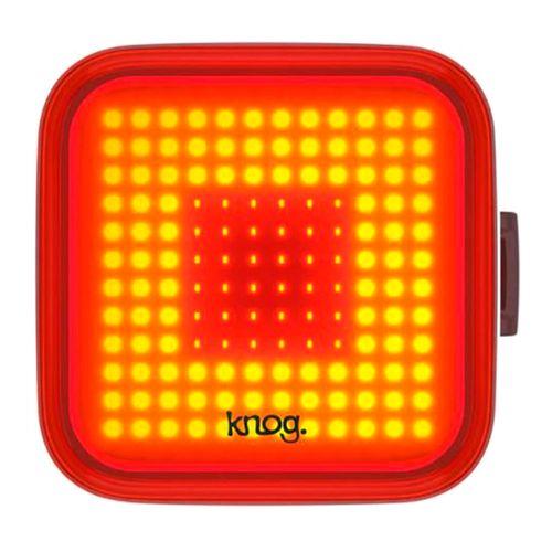 Luz posterior Blinder Cuadrado, carcasa negra, luz roja, 100 lúmenes, 4x4 cm, 8 modos de luz, carga USB, hasta 55 horas de duración en eco flash