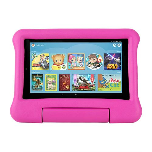 "Tablet kids Amazon Fire 7"", pantalla ips, 16gb, procesador 1.3 ghz 4 nucleos, ram 1gb, camaras 2mp, rosada"